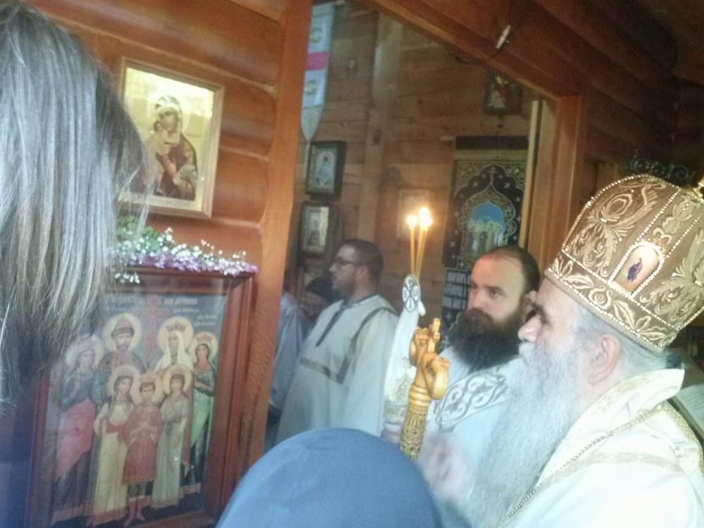 Митрополит Амфилохије у манастиру Рустово, празник Светих царских мученика, 2015.