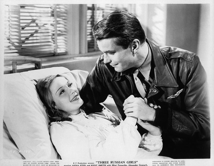 Kent Smith in Anna Sten v filmu Tri Rusinje, 1943.