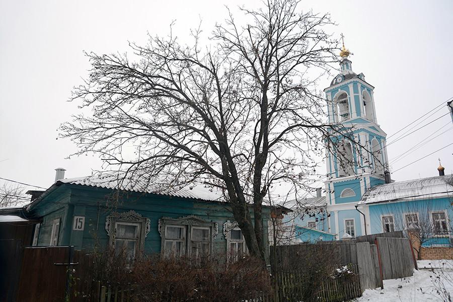 Vista de un campanario en una iglesia.