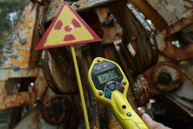 Nível de radiação é regularmente medido em Pripyat