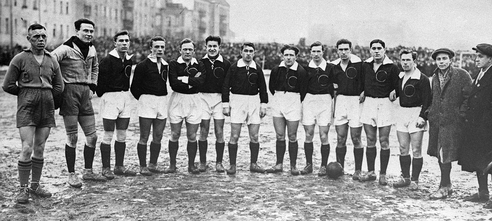 El uniforme de la selección soviética.
