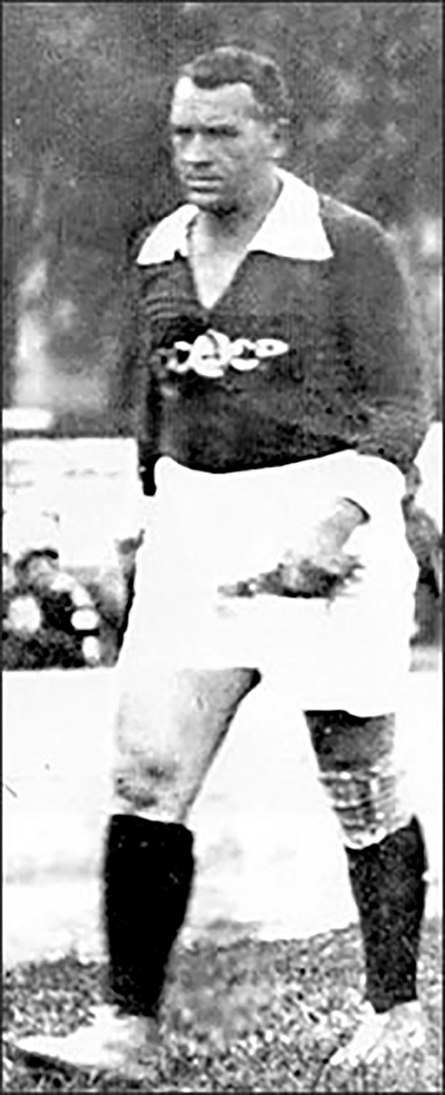 El capitán de la selección soviética, Mijaíl Butúsov.