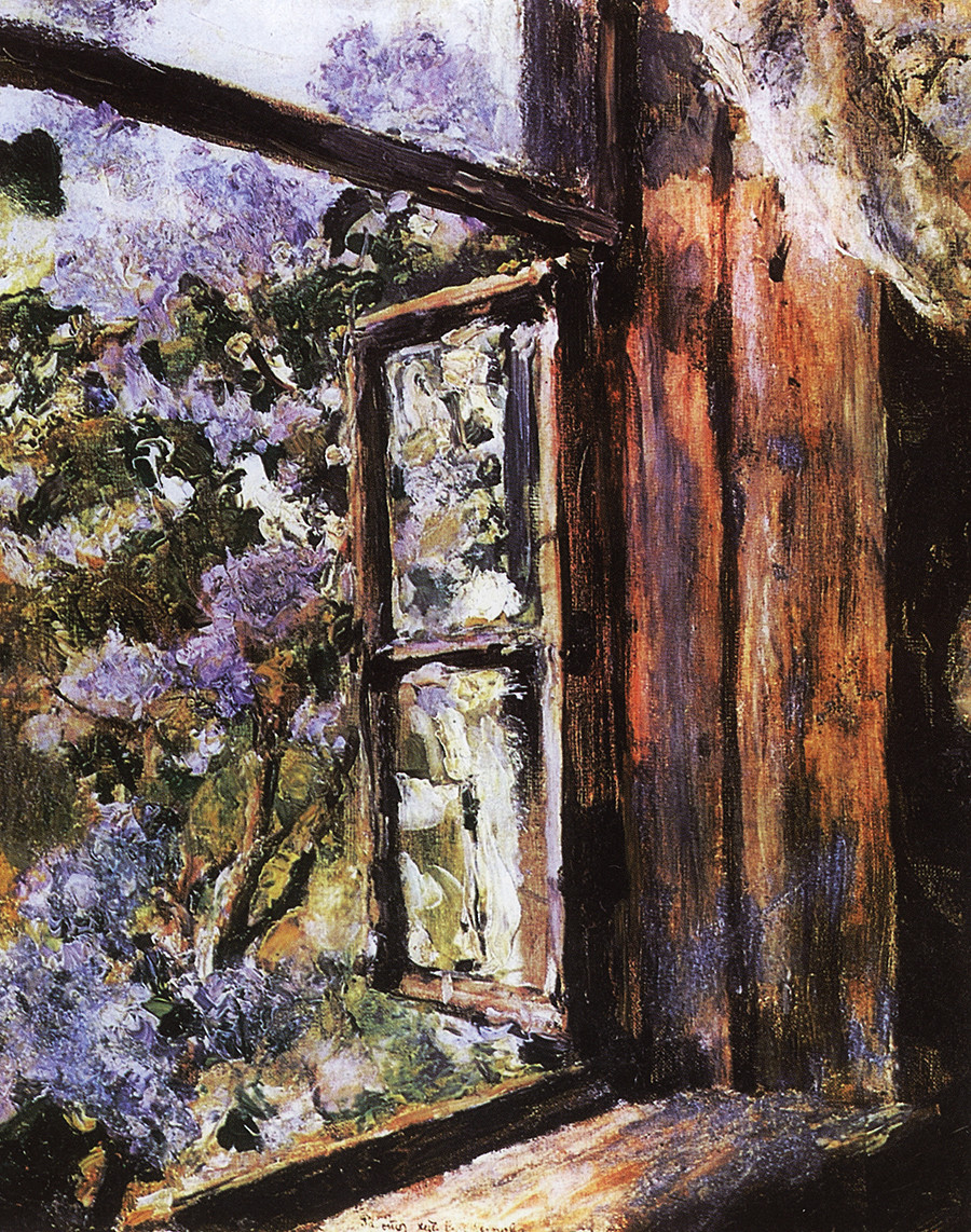 Open Window. Lilacs by Valentin Serov, 1886.