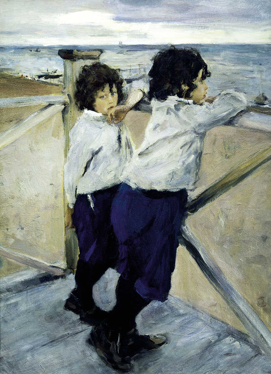 Children. Sasha and Yura Serov by Valentin Serov, 1899.