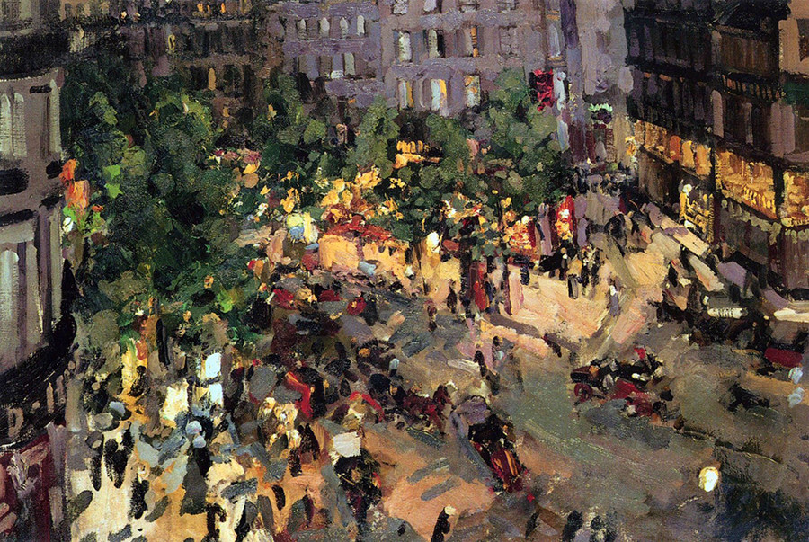 Paris. Boulevard des Capucines by Konstantin Korovin, 1906.