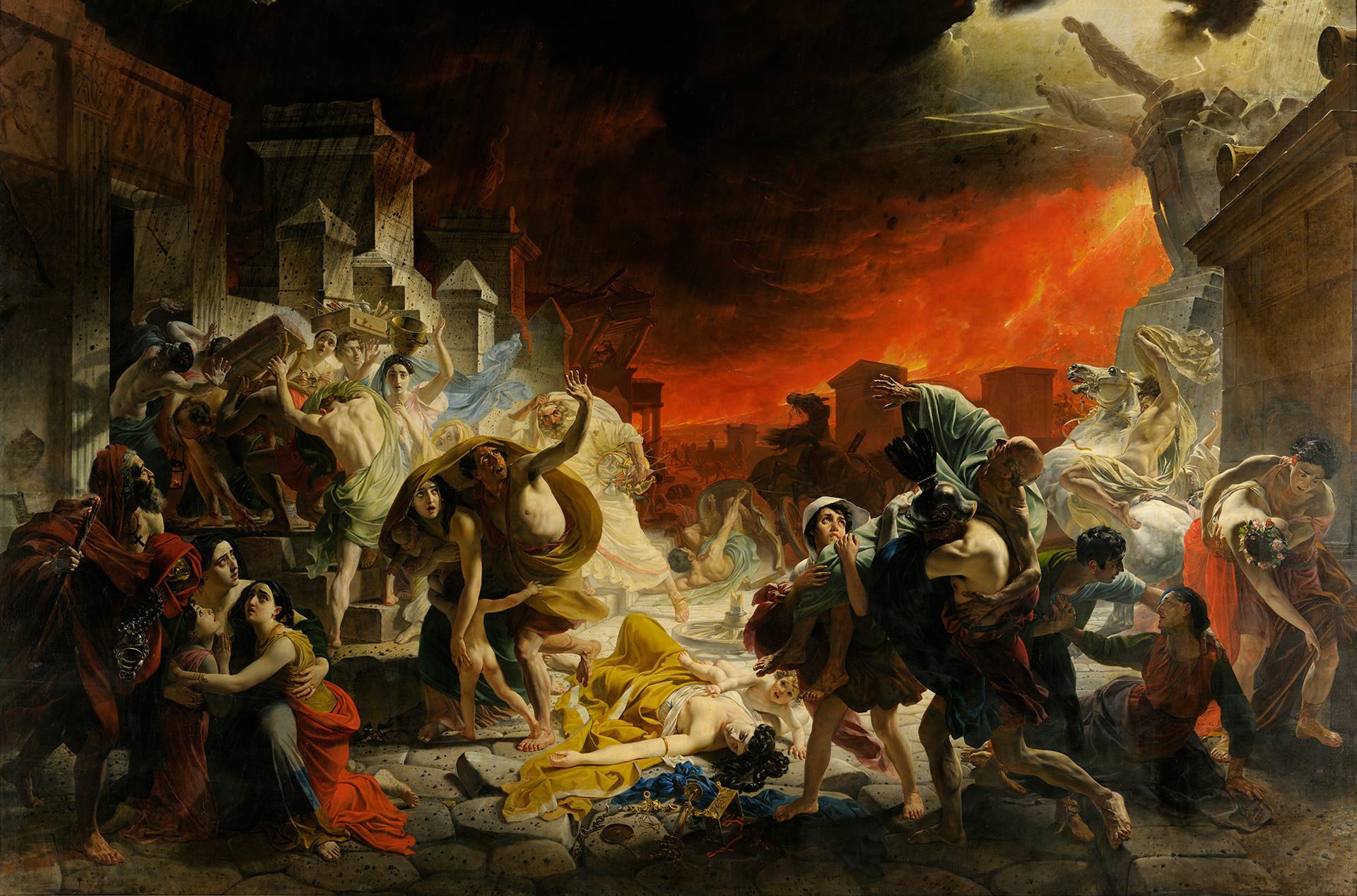 """""""O Último Dia de Pompeia"""", de Karl Briullóv."""