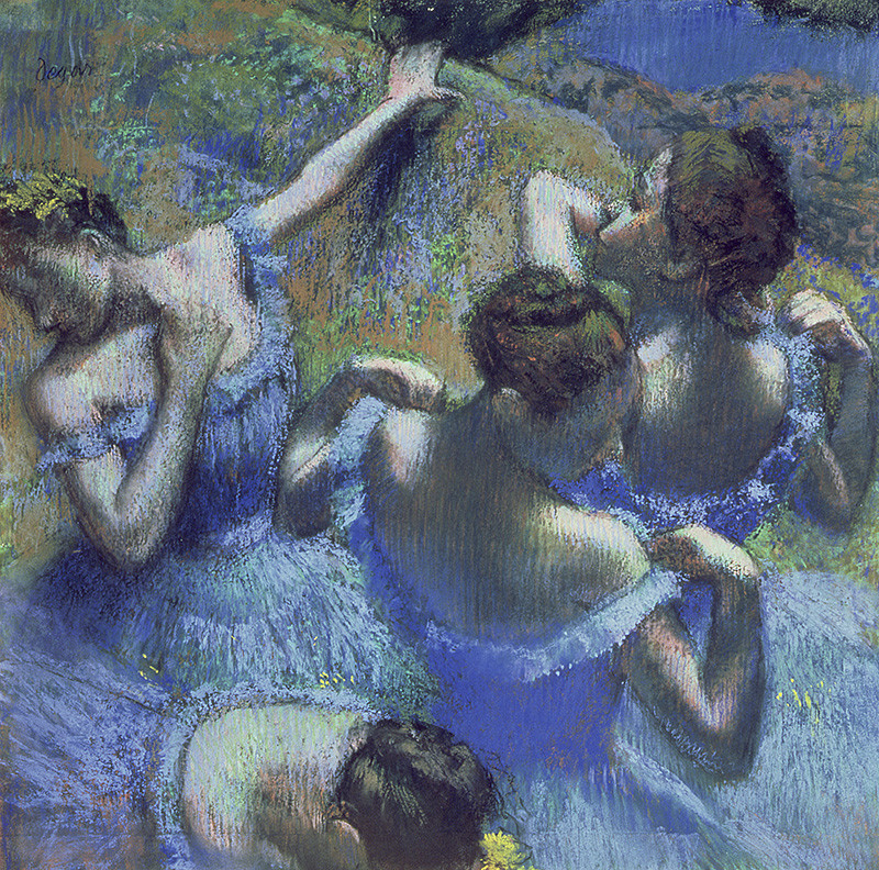 'Blue Dancers' karya Edgar Degas.