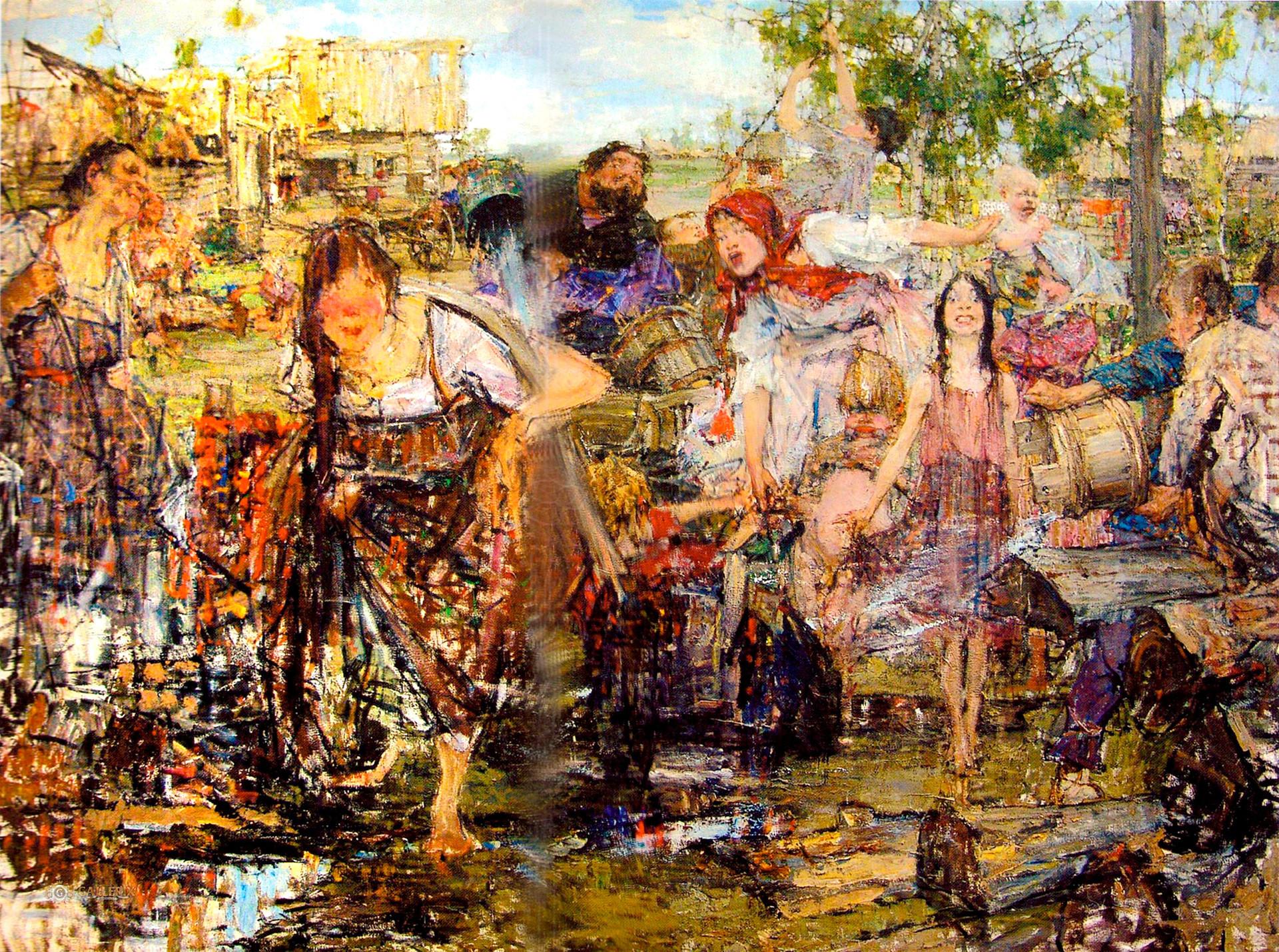 Douche par Nikolaï Féchine