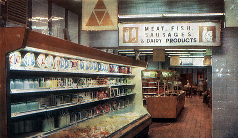 Beryozka shop inside, 1974