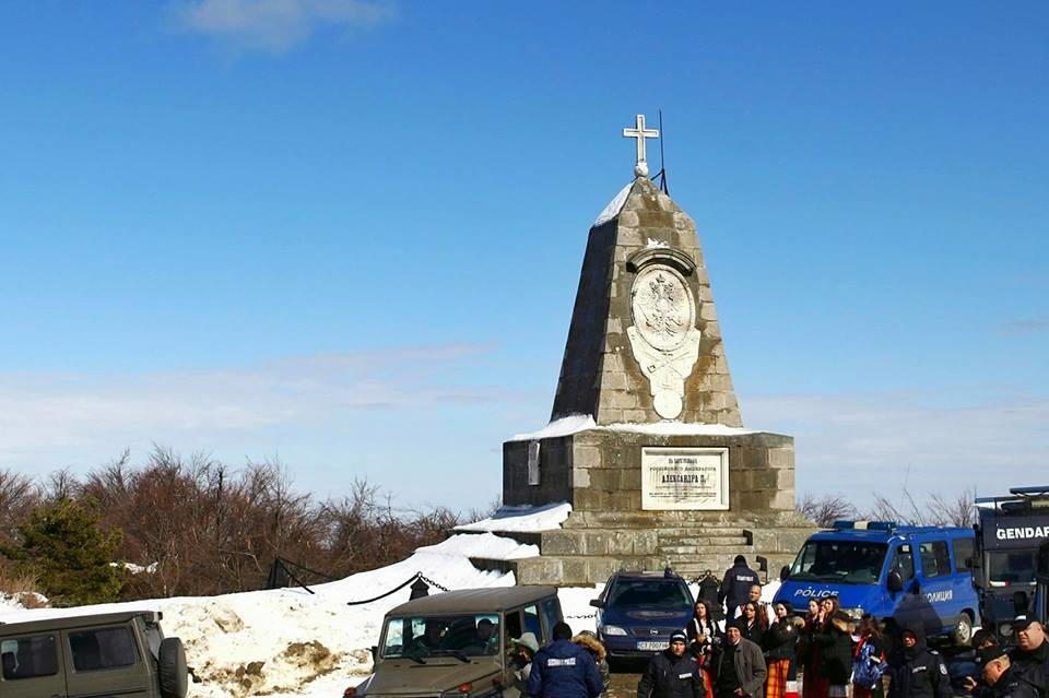 Паметник на Александър II под връх Шипка, 3 март 2018 г.