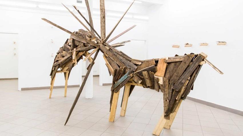 'Mental firewood' exhibition, Fragment gallery, artist Alexey Martins