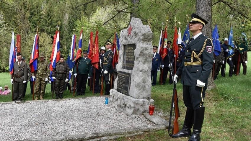 Spomenik slovenskih partizanom in sovjetskim vojakom, vznožje gore Boč, 27. 4. 2018