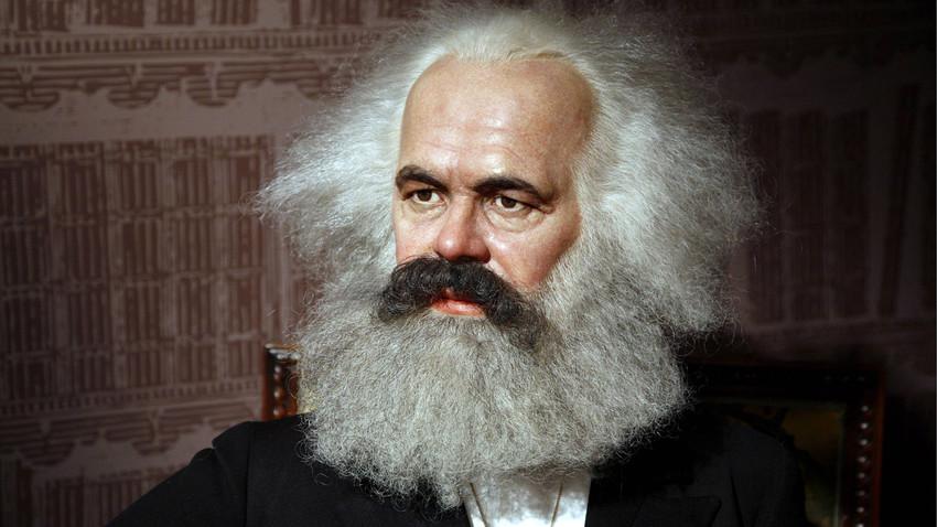 Karl Marx v muzeju Madame Tussauds v Berlinu