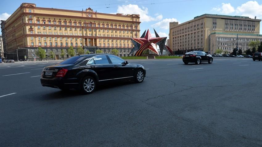 Sede do FSB (Serviço Federal de Segurança), órgão que substituiu a KGB, no centro de Moscou.