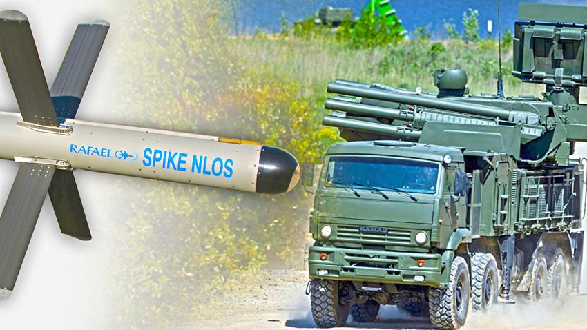 """Израелска ракета Spike NLOS и руски ПВО систем """"Панцир С1"""""""