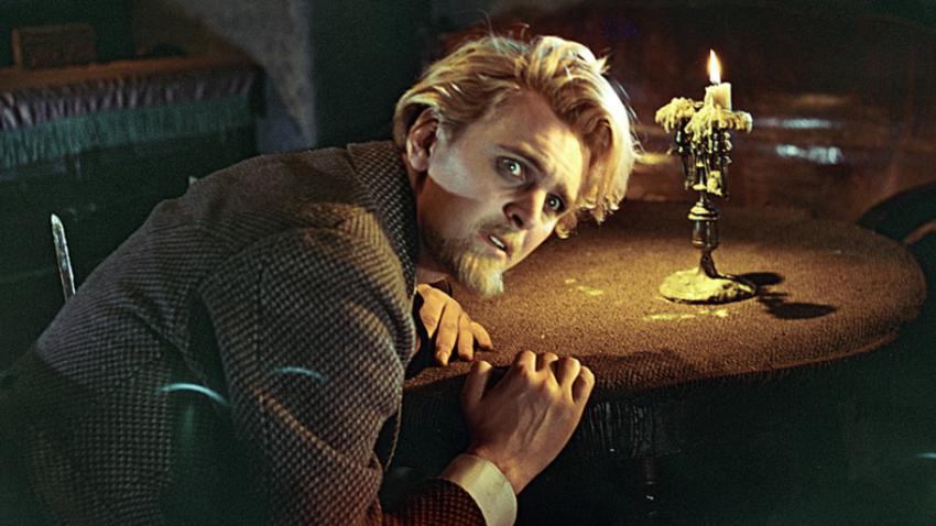 Prizor iz igranega sovjetskega filma Idiot, 1958.