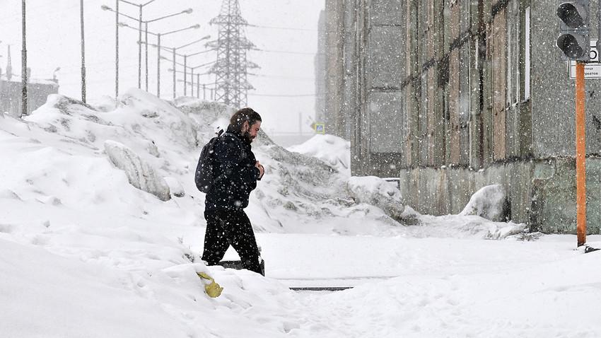 Снег у Норилску 17. маја 2018.
