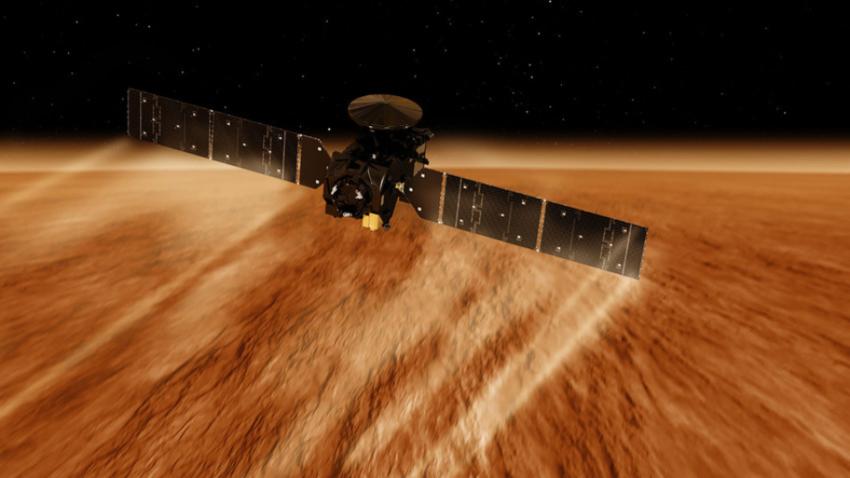 Satelit TGO v Marsovi atmosferi.