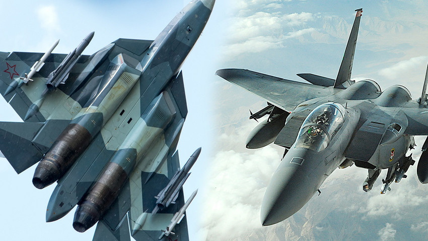 Су-57 и F-15