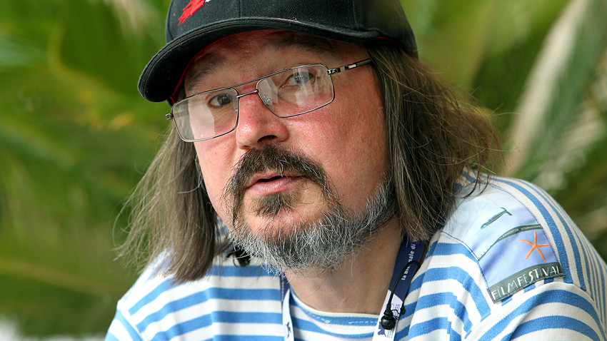 El director de cine Alexéi Balabánov concede una entrevista durante la 69ª edición del Festival de Cine de Venecia, 2012.