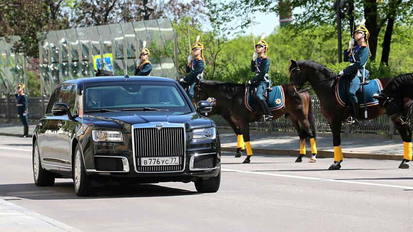 Президентската лимузина Aurus на Владимир Путин