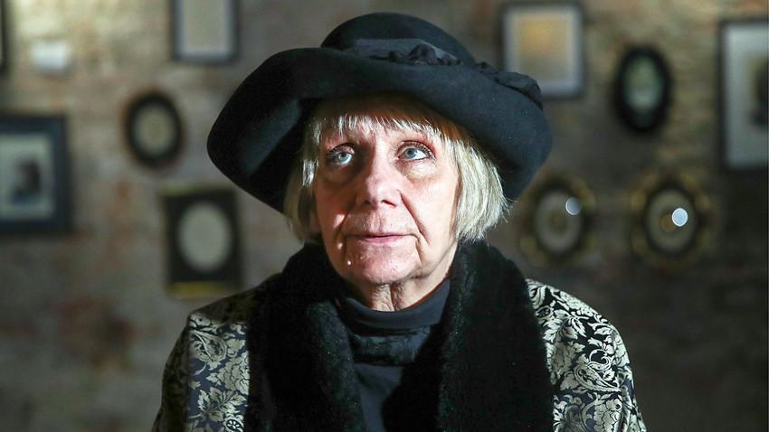A escritora na abertura da exposição que celebra seus 80 anos no Museu de Arte Moderna de Moscou.