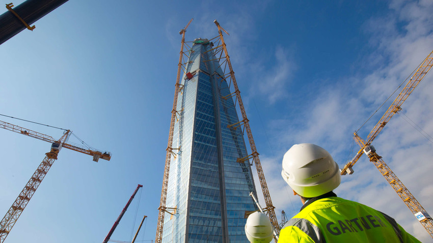 Gazproms neuer Sitz in Sankt Petersburg: der Lachta-Turm