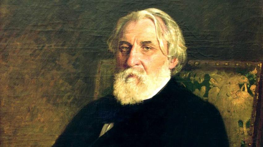 Retrato de Turguêniev, pelo artista Iliá Répin