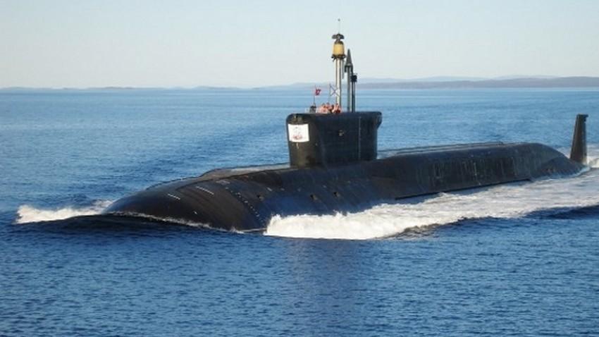 """Нуклеарната подморница """"Јуриј Долгоруки""""."""