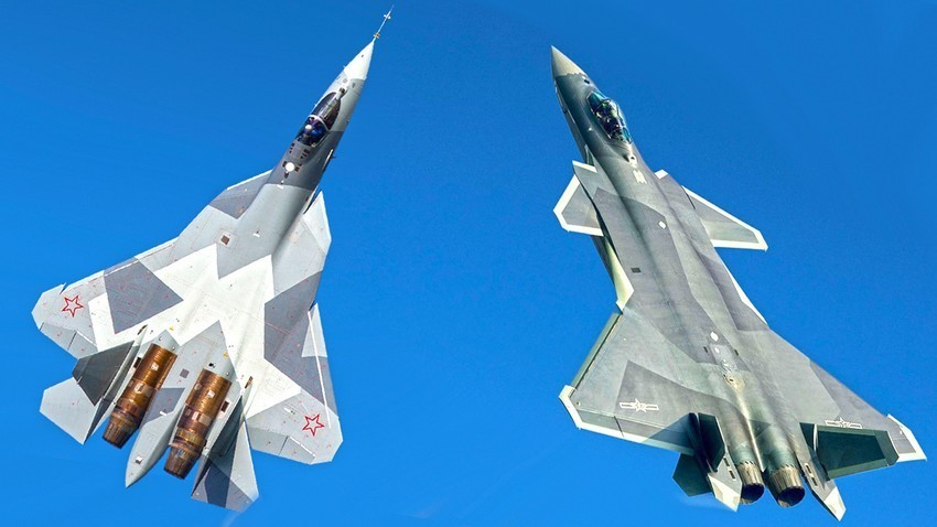 Ruski Su-57 in kitajski J-20