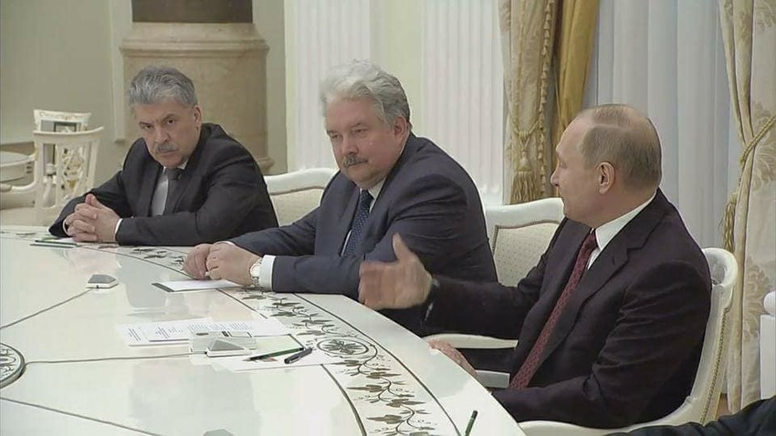 Сергеј Бабурин на састанку с Владимиром Путином