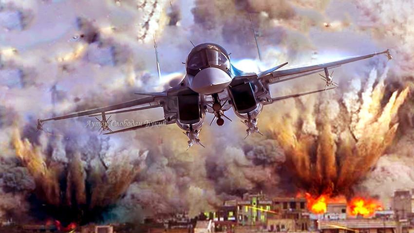 Су-34 во акција
