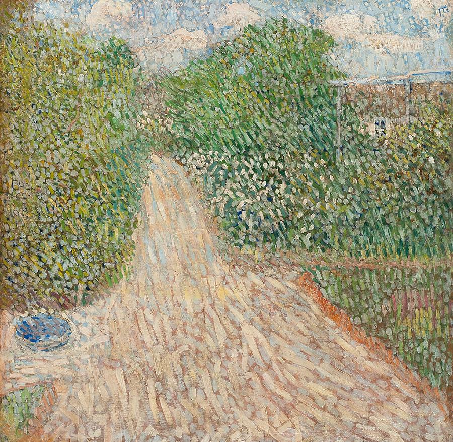 """""""O caminho no jardim"""", de Vladimir Baranov-Rossiné, 1907"""
