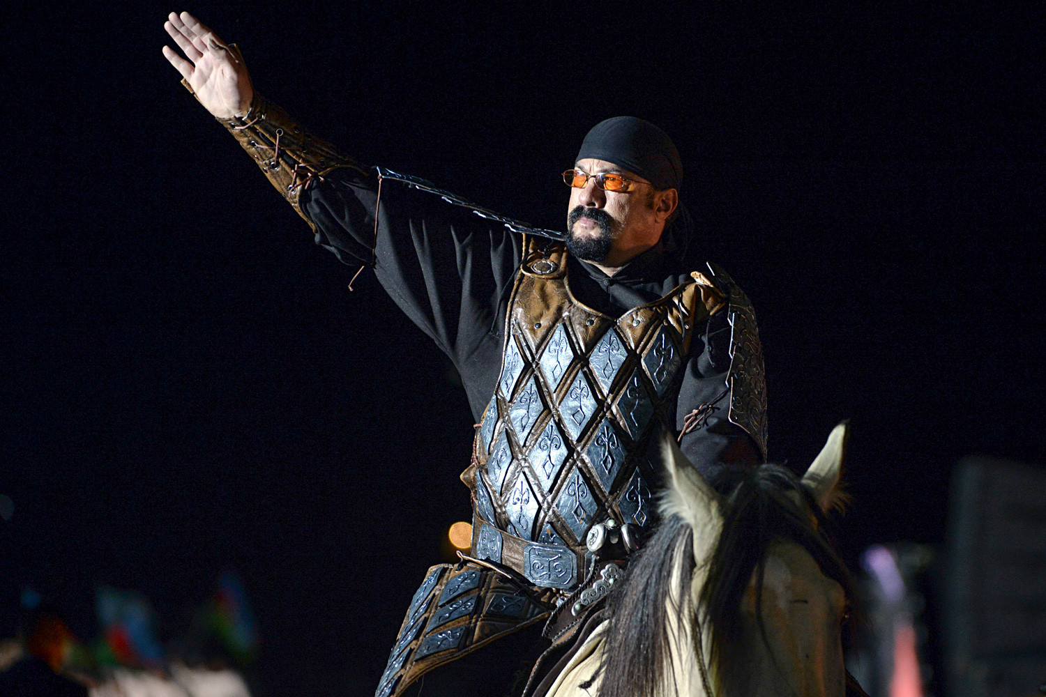 According to media reports, Seagal considered making in Russia a movie about Genghis Khan