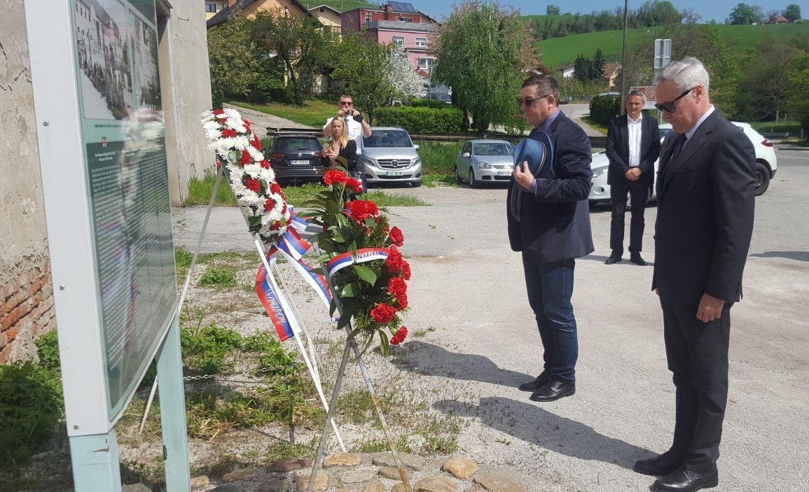 Ob nekdanjem nacističnem taborišču v Mariboru, 23. 4. 2018