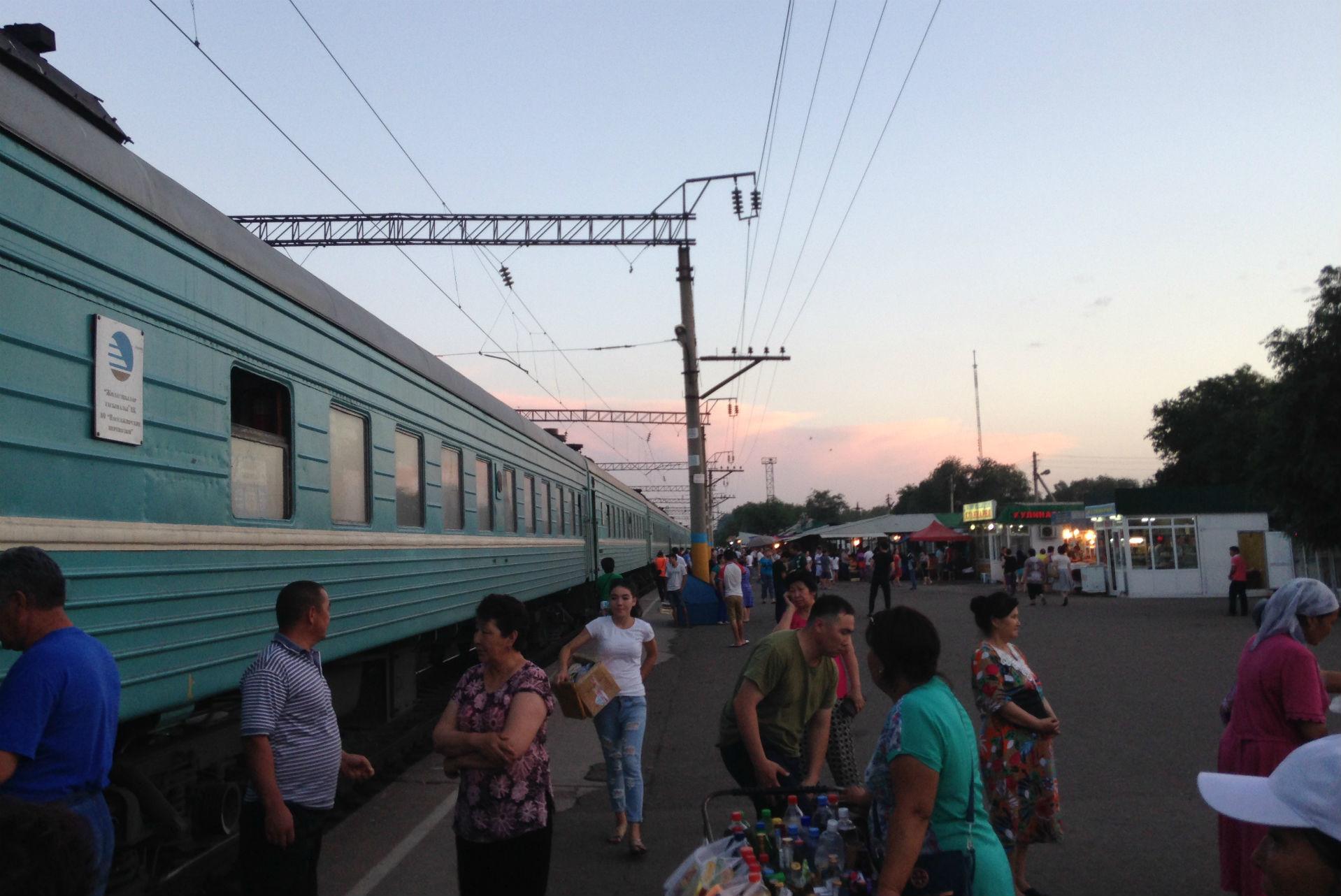 Les gares d'Asie centrale ne sont effectivement pas bien différentes de celles que l'on trouve en Russie.