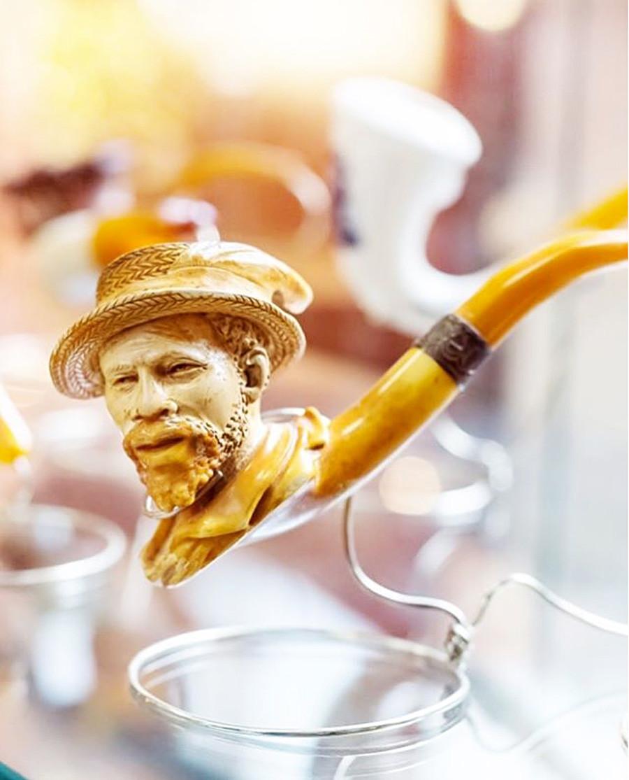琥珀製煙管
