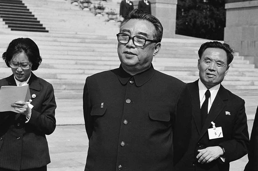 Líder de Corea del Norte Kim Il-sung, 1980.