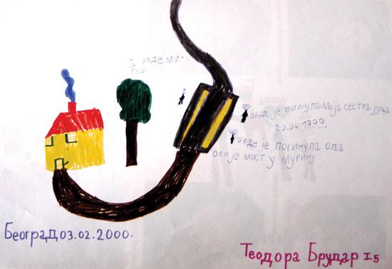Цртеж мале Теодоре Брудар