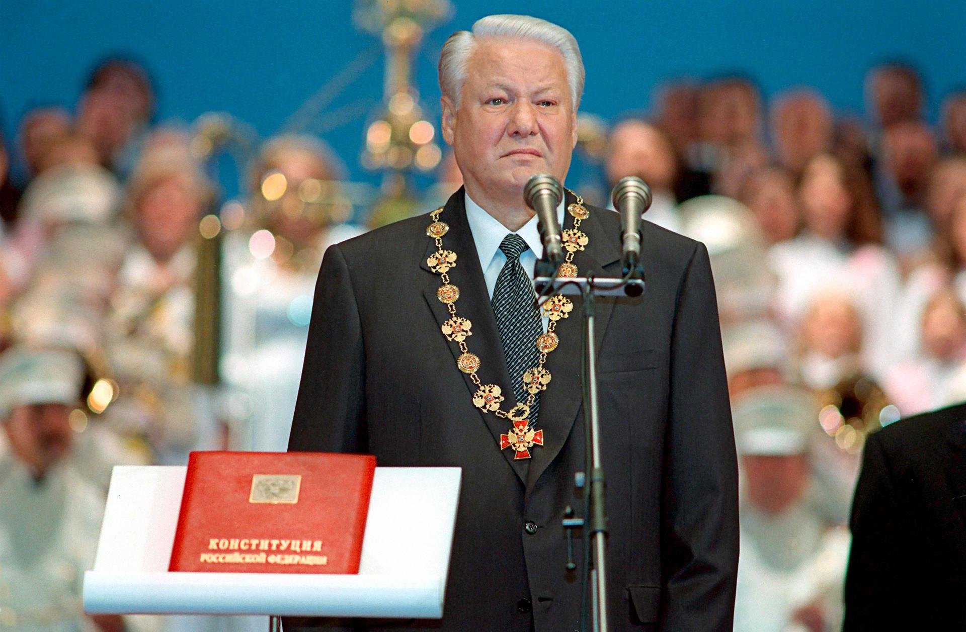 9 август 1996 г., инаугурацията на новоизбрания президент Борис Елцин