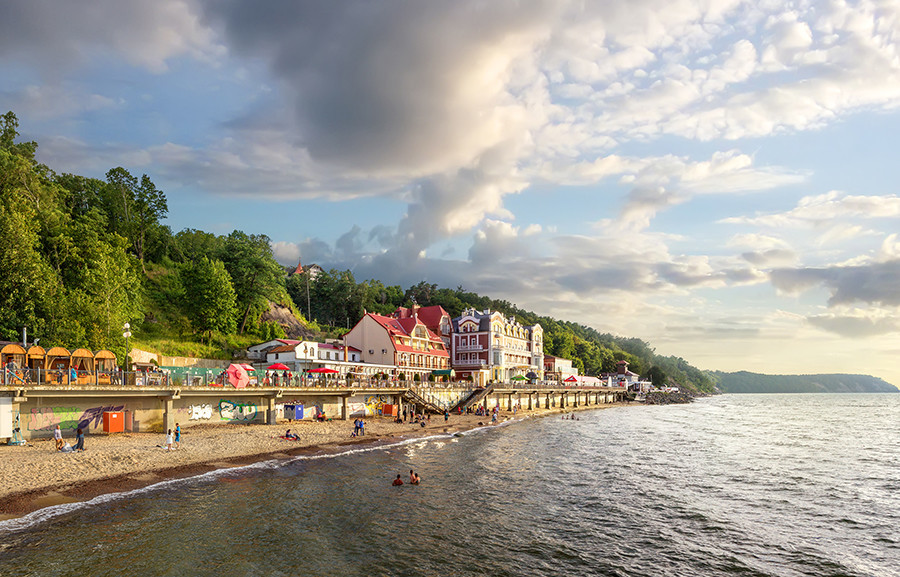 Tepi pantai Svetlogorsk.