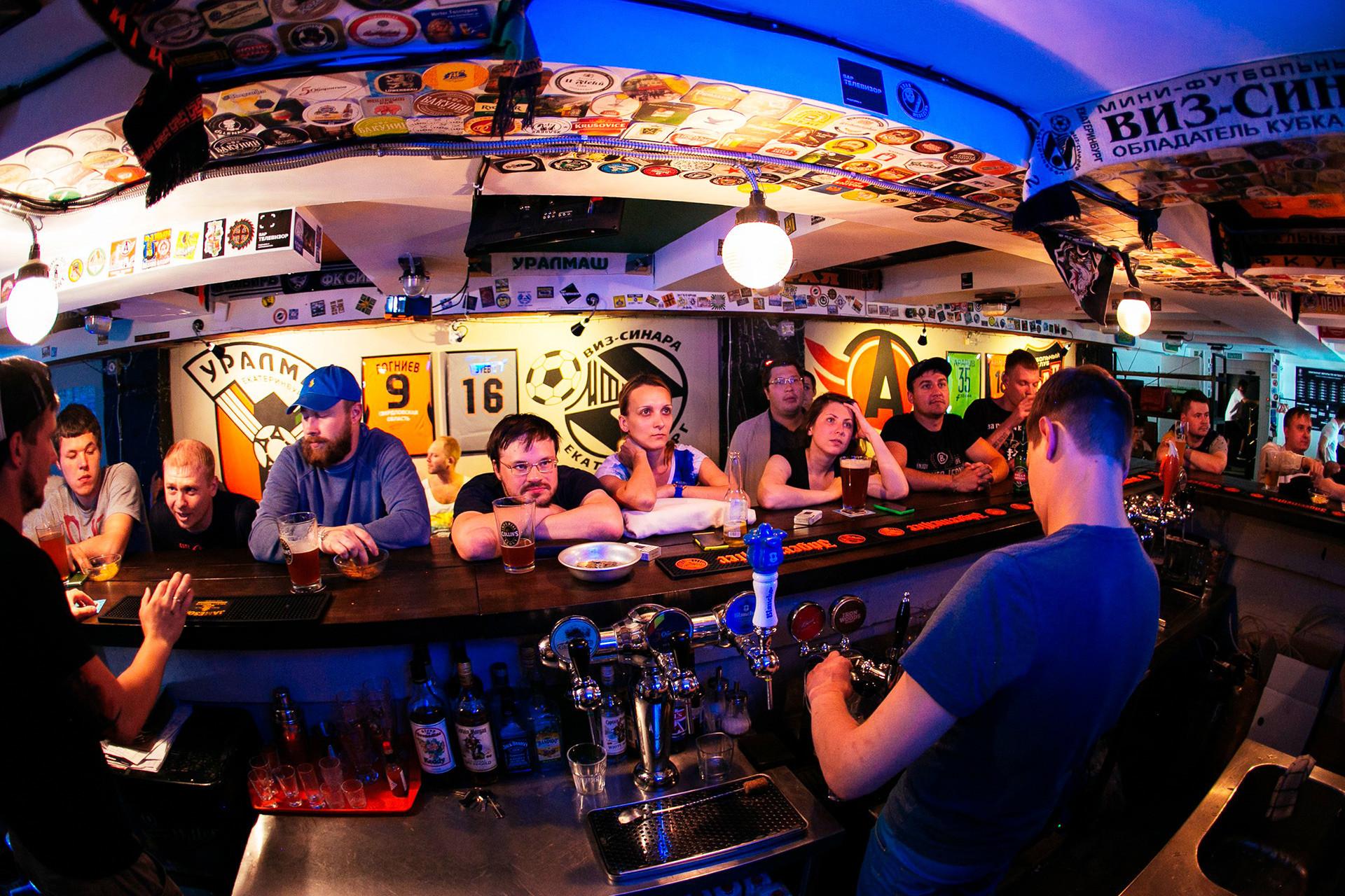 Televizor Bar, Ekaterinburg.