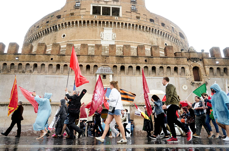 Hier ist ein Foto von Roms Gedenkveranstaltung.