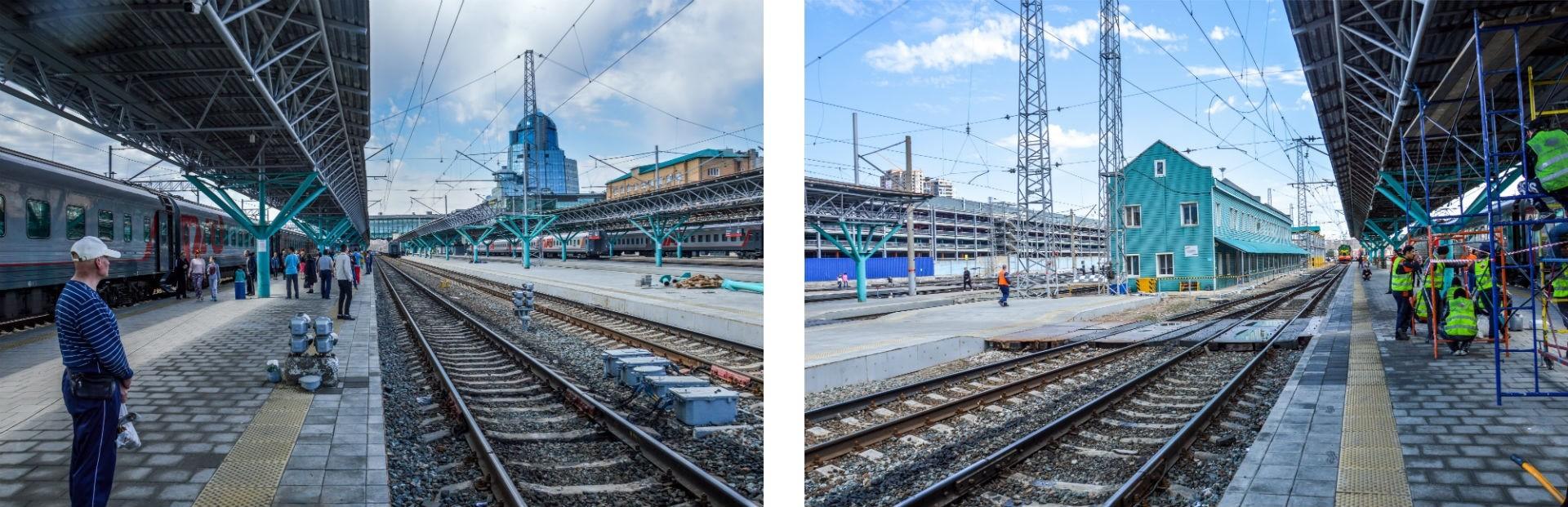 Pause en gare de Samara.
