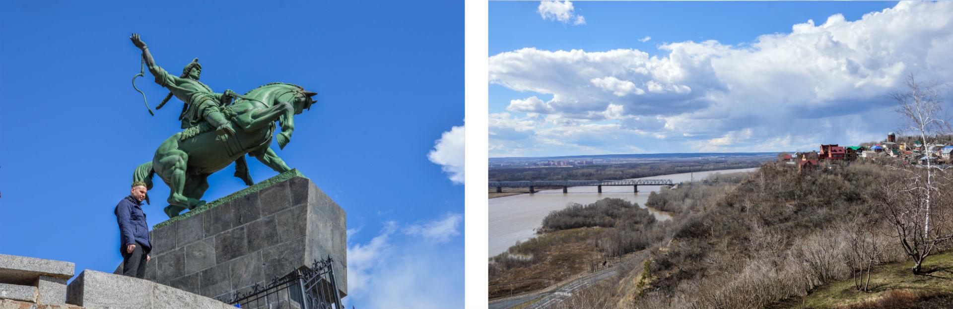 C'est un paysage à la beauté saisissante que fixent inlassablement Salavat Ioulaïev et sa monture.