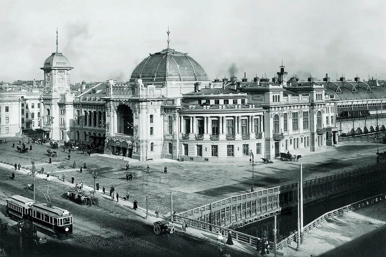 Imagen de la estación a principios del siglo XX.