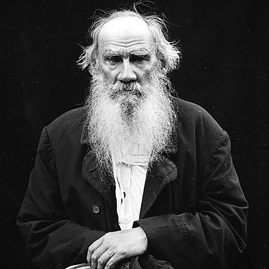 Leo Tolstoy (though he was younger than in this photo while suffering from sex addiction).