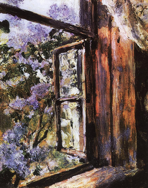 Offenes Fenster. Flieder, 1886