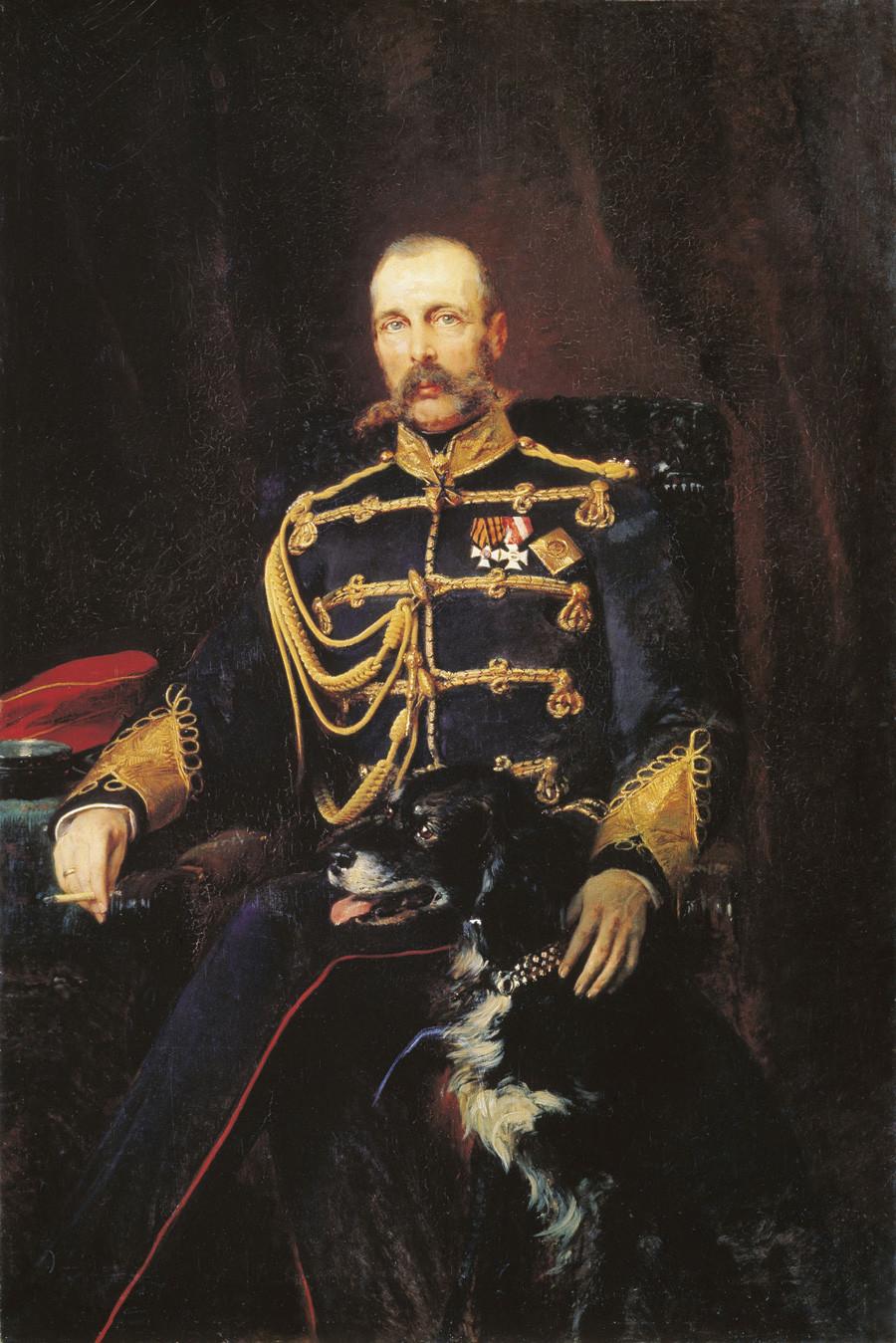Portret Aleksandra II., rad Konstantina Makovskog