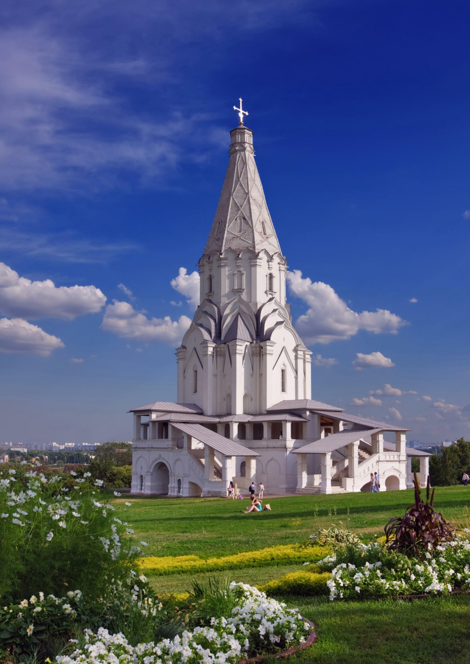 Iglesia de la Ascensión en el parque Kolómenskoye.